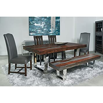 Coast To Coast Grayson Dining Table With Stainless Steel Base