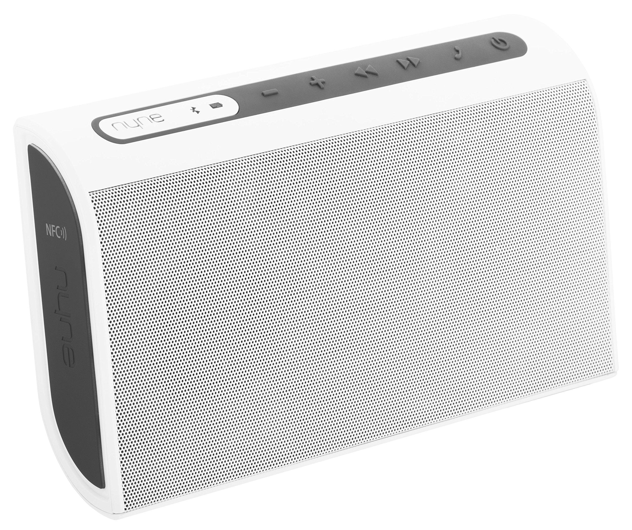 NYNE Multimedia Inc TT Portable Bluetooth Speaker (White/Grey)