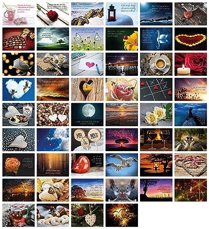 52 Postkarten für Hochzeit Postkartenspiel I Hochzeitsspiel Liebe Postkarten Set Hochzeitsgeschenke Hochzeits Postkarten I Cl