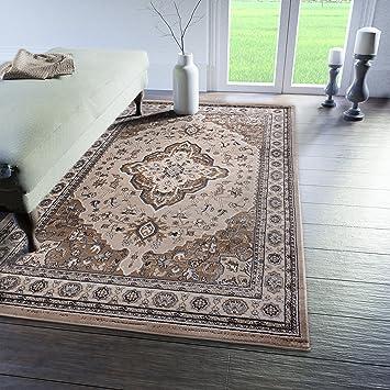 Traditioneller Klassischer Teppich Für Ihre Wohnzimmer   Beige Creme    Perser Orientalisches Heriz Keshan Muster