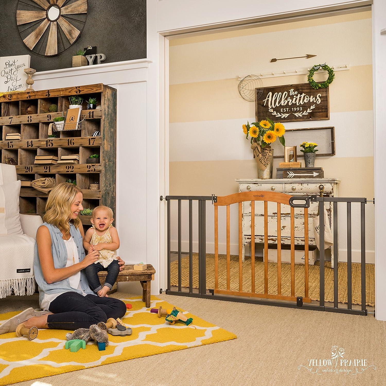 Summer Infant Decorative Wood /& Metal 5 Foot Pressure Mounted Baby Gate,...