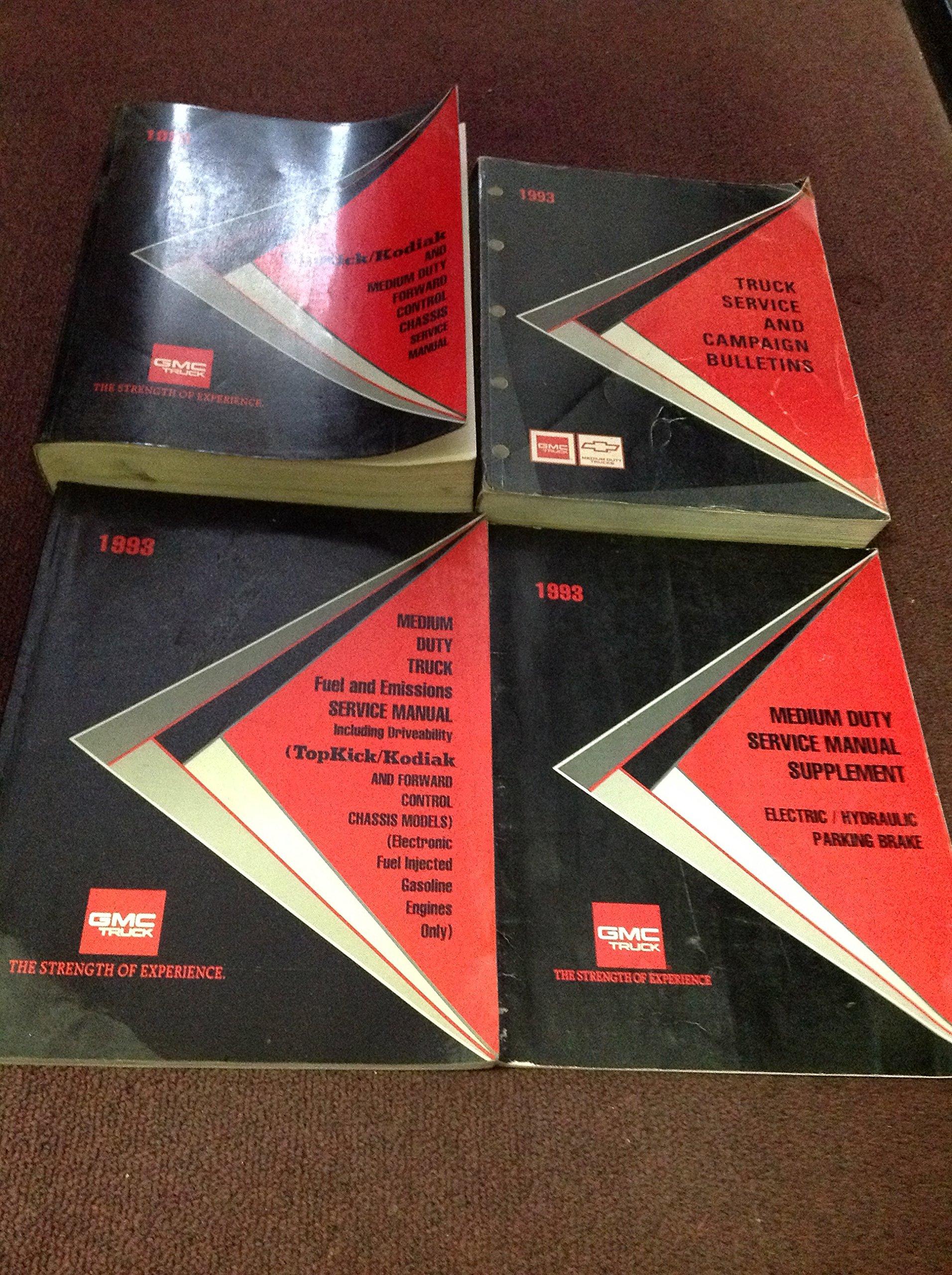 1993 GMC Topkick Chevy Kodiak Diesel Shop Service Repair Manual Set FACTORY  OEM: gmc: Amazon.com: Books