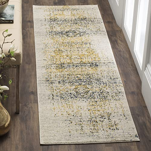 Safavieh Evoke Collection EVK232C Vintage Oriental Ivory and Blue Runner 2 2 x 7