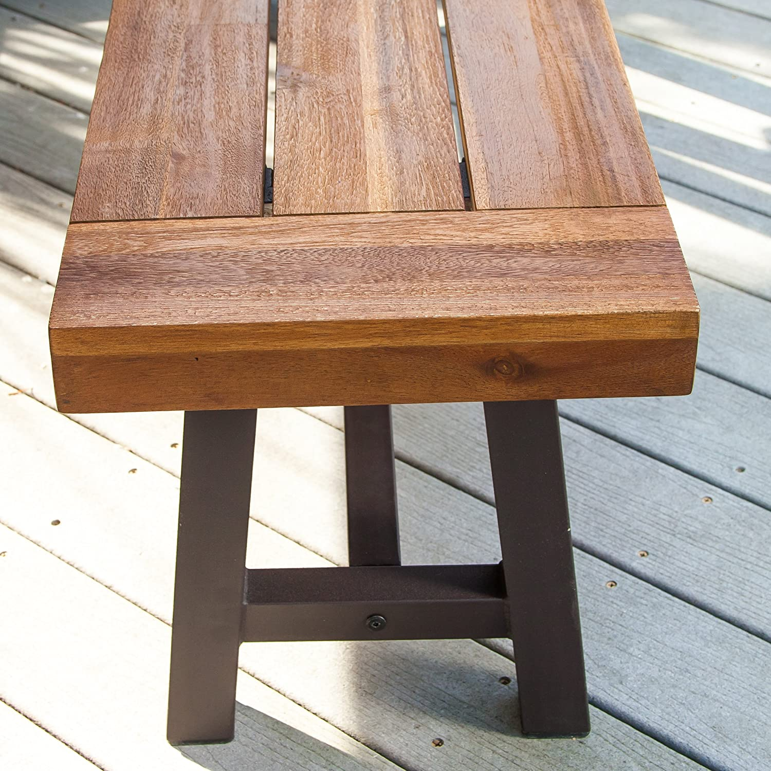 Amazoncom Christopher Knight Home Bowman Wood Outdoor - Picnic table with removable benches
