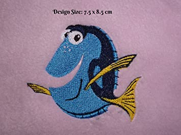 Dory - Buscando a Nemo diseño (319) - bordado personalizado toalla de baño de algodón: Amazon.es: Hogar