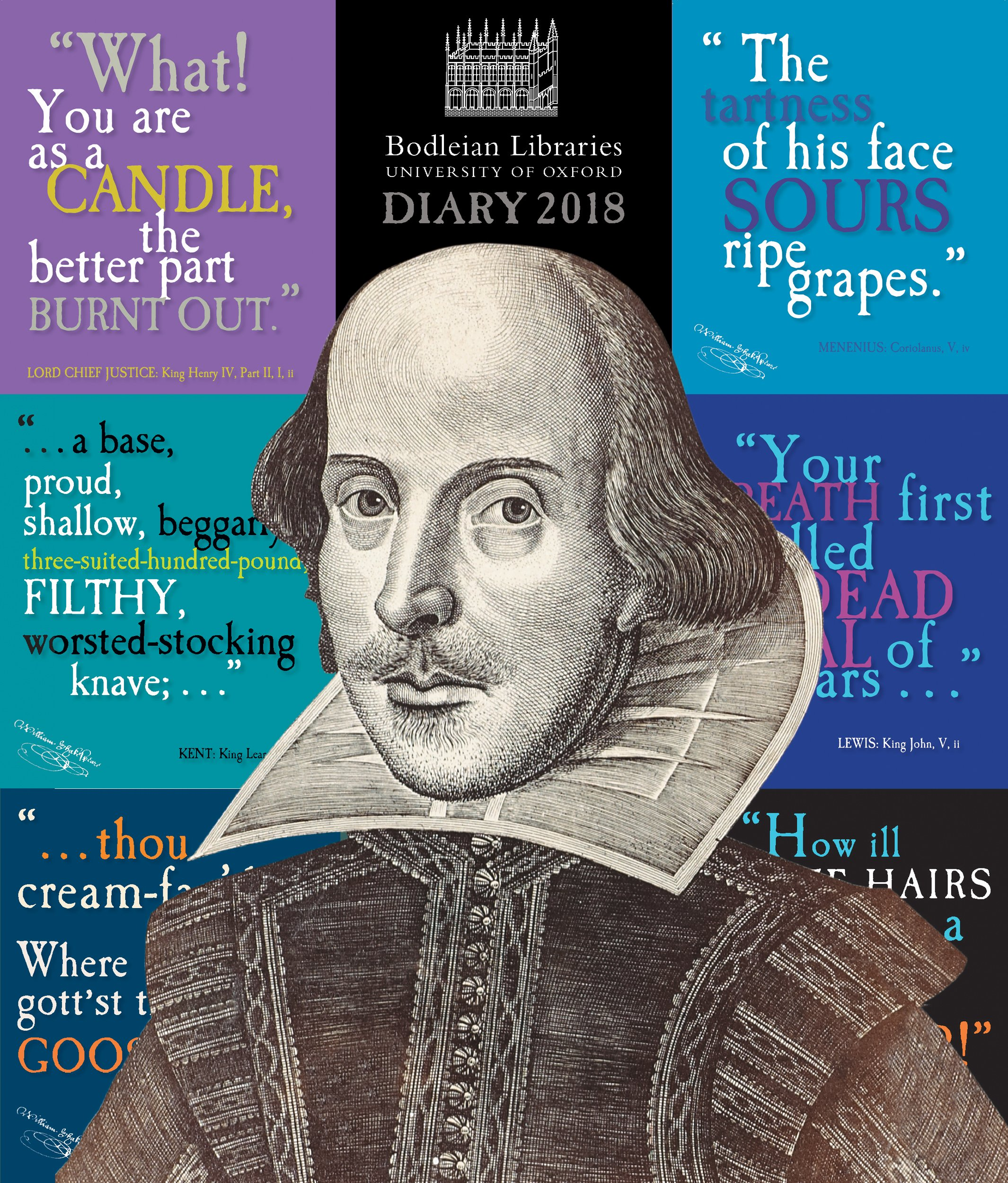 bodleian library shakespeares insults desk diary 2018