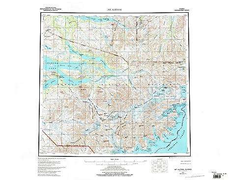 Amazoncom Mt Katmai AK topo map 1250000 scale 1 X 2 Degree