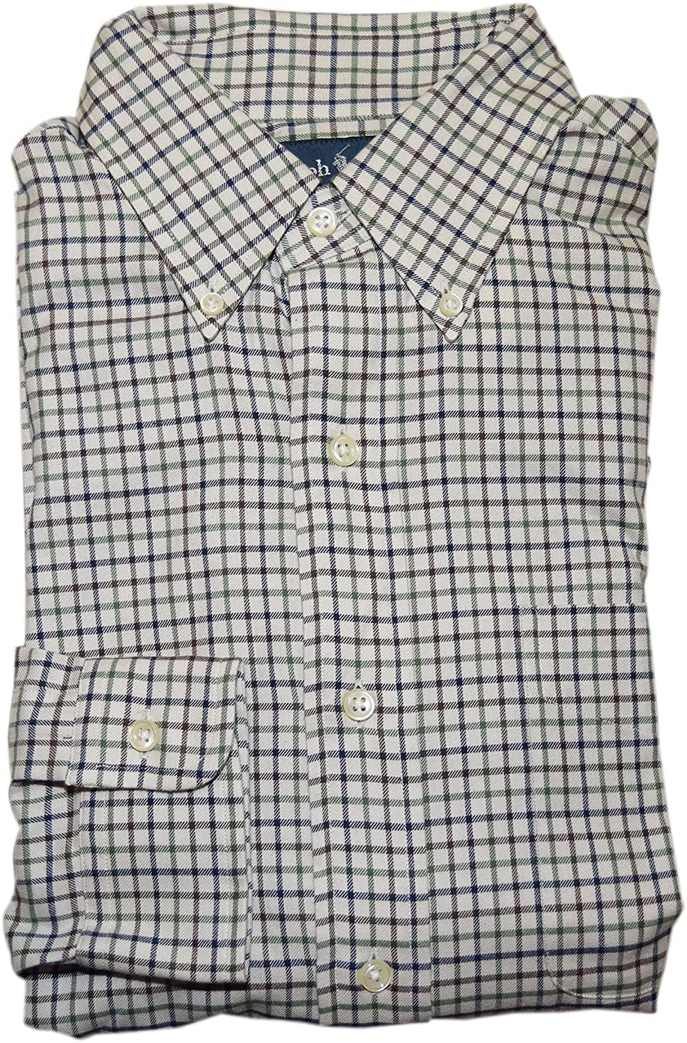 Wofupowga Mens Fashion Button Down Plaid Top Cotton Long-Sleeve Shirts