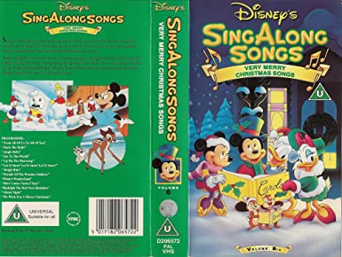 Disney Sing Along Songs Very Merry Christmas Songs 2002.Disney Singalong Songs Very Merry Christmas Songs Amazon