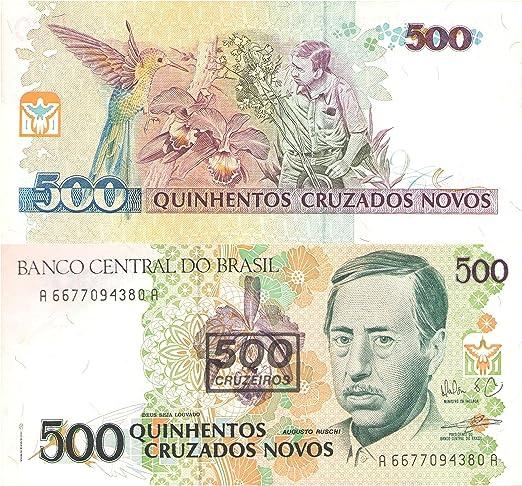 Stampbank 500 Crusados ??Brasil Billete sobreimpresión para coleccionistas / 500 Cruzeiros / UNC: Amazon.es: Juguetes y juegos