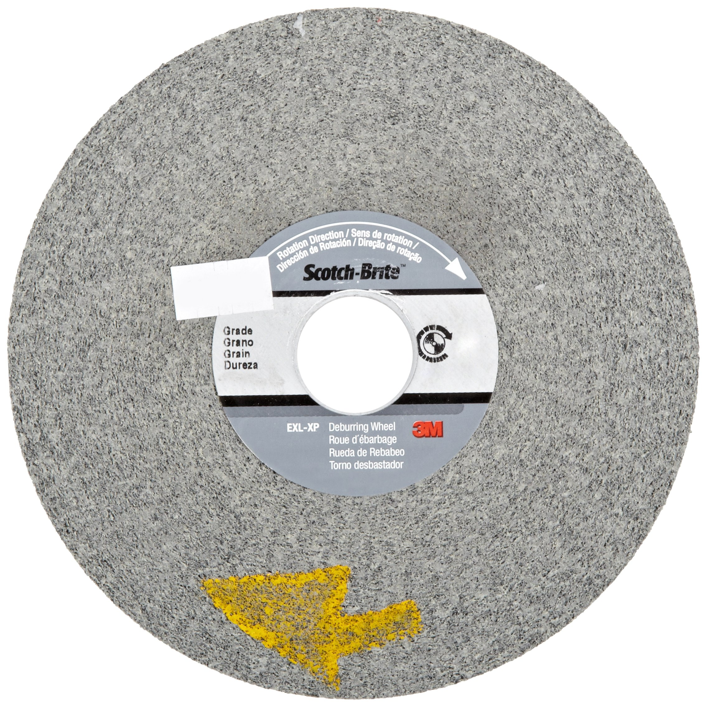 Scotch-Brite(TM) EXL-XP Deburring Wheel, Silicon Carbide, 6000 rpm, 6 Diameter, 1 Arbor, 11S Fine Grit  (Pack of 3)