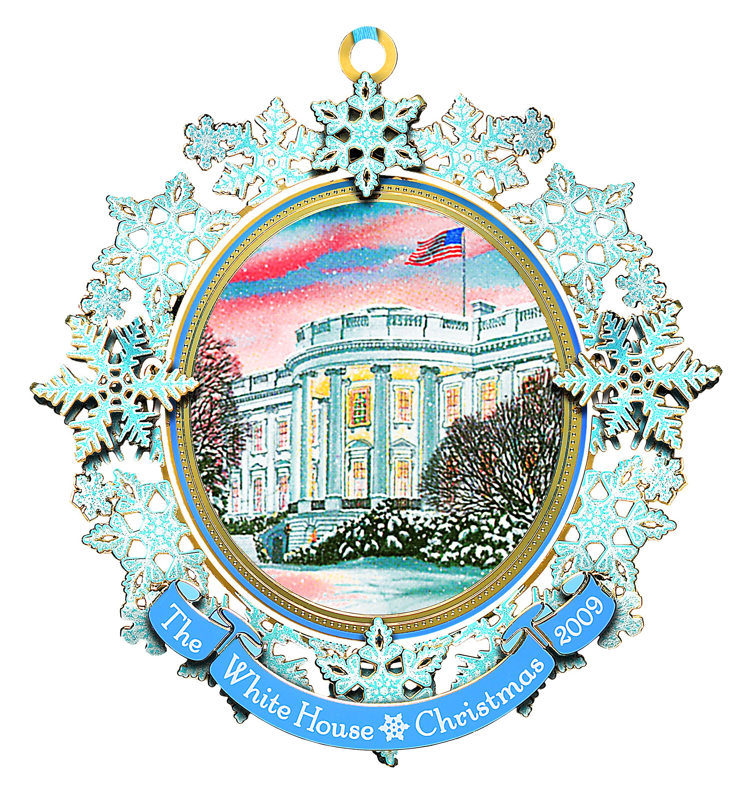 2009 White House Christmas Ornament, First Electric...