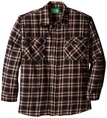 Amazon.com: Teflon Men's Apparel LS Brawny Plaid Flannel Shirt, 3X ...
