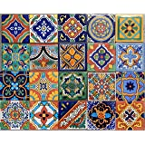 Amazoncom 100 Mexican Tiles Mix Home Kitchen