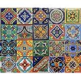 Amazon.com: 100 Mexican Ceramic Tiles Handmade Talavera Tiles ...