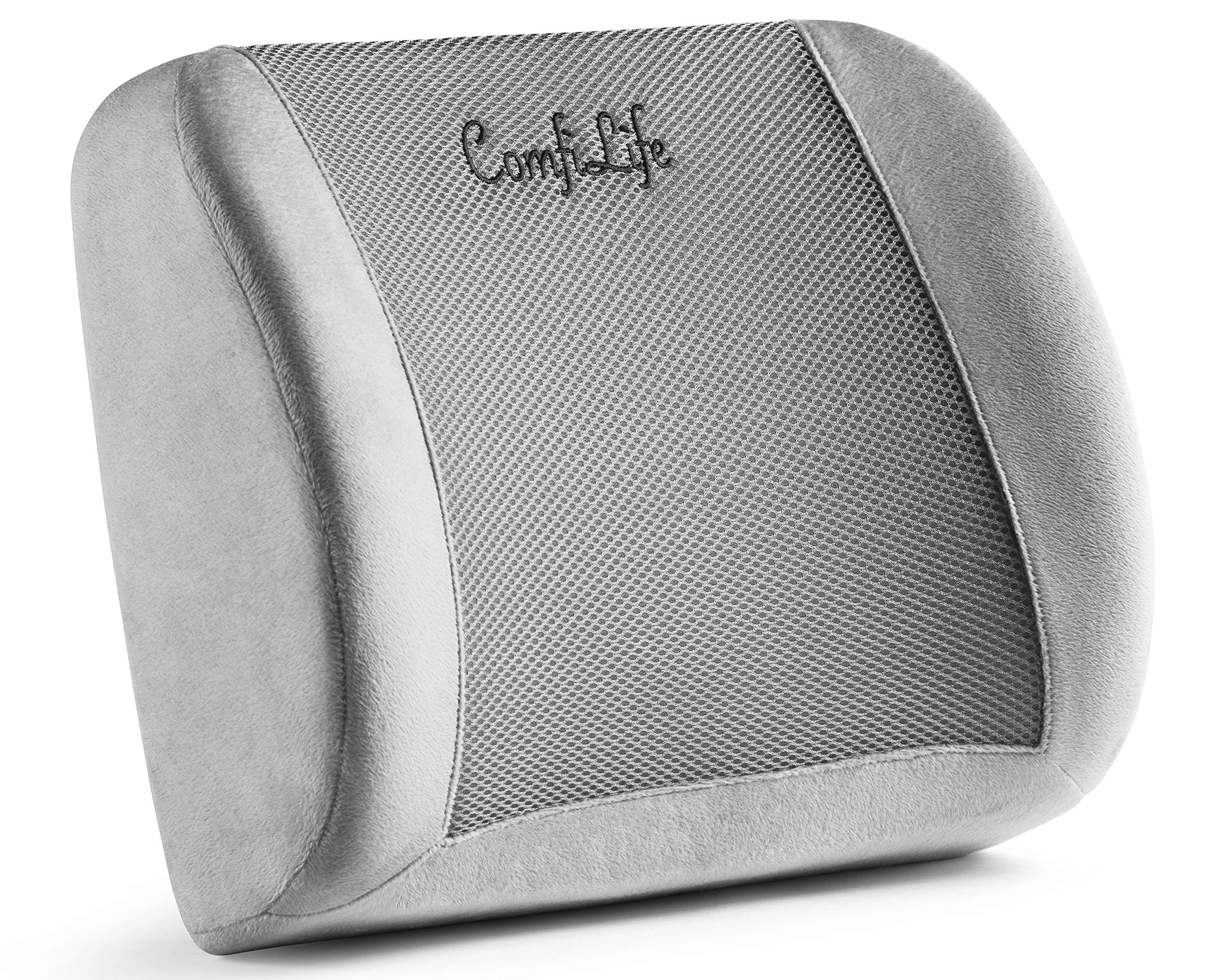 ComfiLife Lumbar Support Back Pillow Office Chair and Car Seat Cushion - Memory Foam with Adjustable Strap and Breathable 3D Mesh by ComfiLife