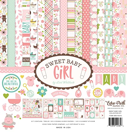 Amazon Echo Park Paper Company Sweet Baby Girl Collection Kit
