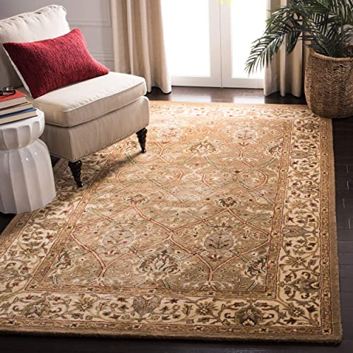 Safavieh Persian Legend Collection PL819A Handmade Traditional Light Green and Beige Wool Area Rug 4' x 6'