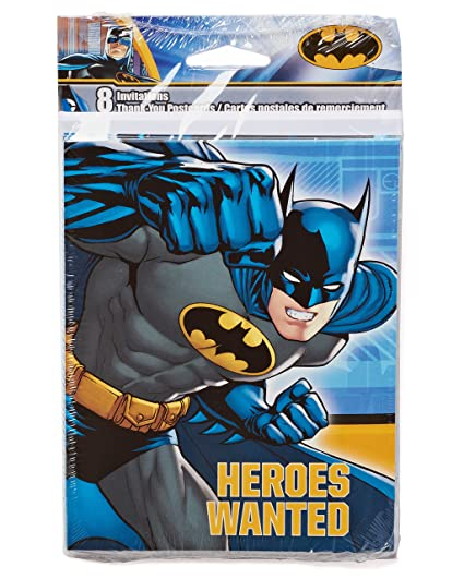 Amazon american greetings batman invite and thank you combo american greetings batman invite and thank you combo pack 8 count m4hsunfo