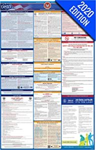 OH Labor Law Poster, 2020 Edition - State, Federal and OSHA Compliant Laminated Poster (Ohio, English)