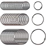 Clipco Book Rings Assorted Sizes Small, Medium and Large Nickel Plated (250-Pack)
