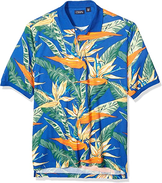 Chaps Men/'S Big And Tall Classic Fit Fashion Cotton Mesh Polo Shirt