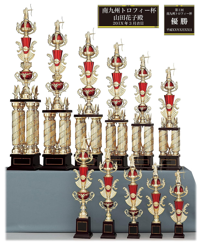 [レーザー彫刻名入れ] GOLD SHACHI 優勝トロフィー T8706 B01NCXPR50 Kサイズ 高さ40cm 重さ300g|27.卓球 27.卓球 Kサイズ 高さ40cm 重さ300g