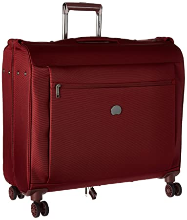 938910b11eab DELSEY Paris Delsey Luggage Montmartre Spinner Garment Bag Suit or Dress  Bordeaux Red
