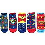 DC Comics Wonder Woman Classic Juniors 5 Pack Low Cut Ankle Socks