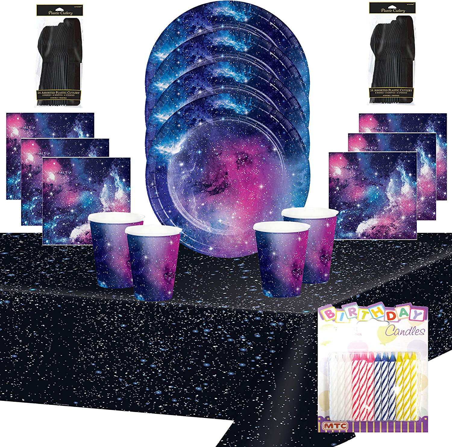 Galaxy 9 oz Hot//Cold Cups 8 Pack Outer Space Science Party Decoration