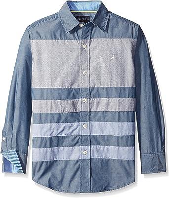 Nautica - Camisa - para niño Azul Sport Navy: Amazon.es: Ropa ...