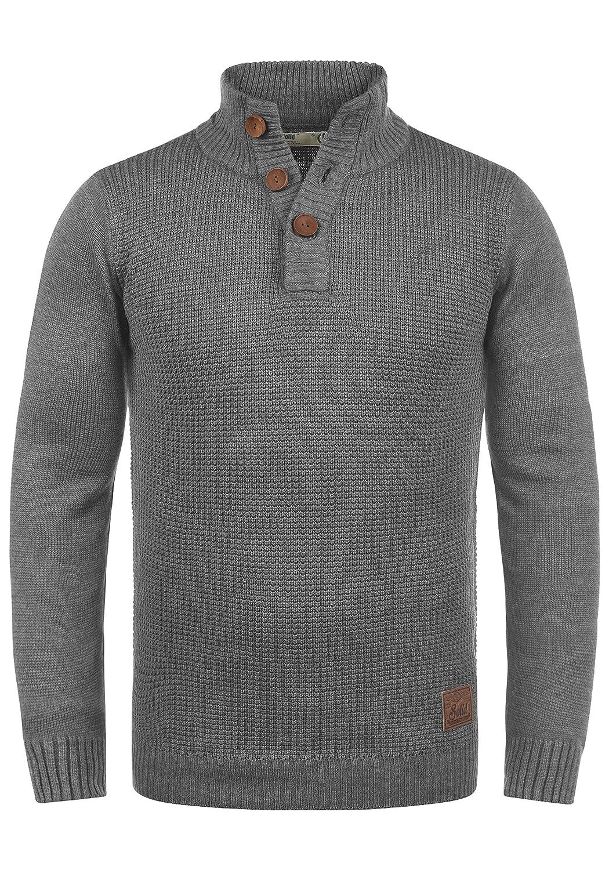 TALLA M. !Solid Travon Jersey Suéter Troyer para Hombre con Cuello Alto