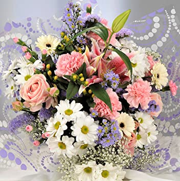 Fresh Flowers Delivered Stunning Pastel Mixed Bouquet With Scented Oriental Lilies Free Uk Next Day Delivery Send A Gift Of Beautiful Real Cut