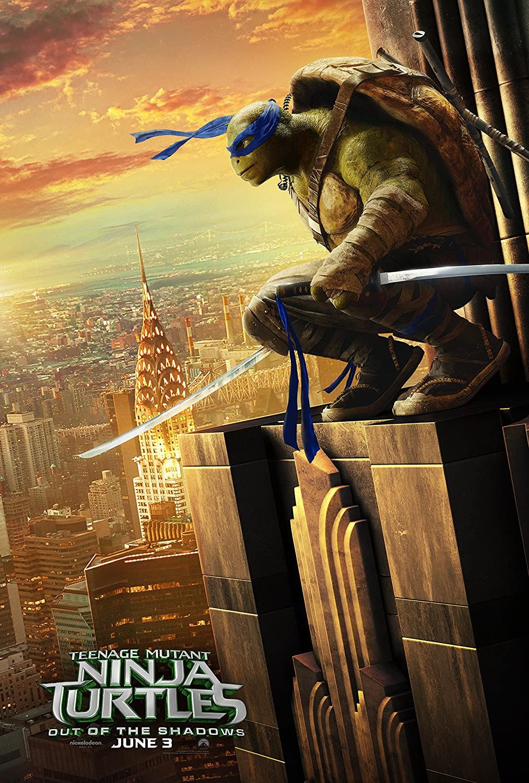 "Leonardo - Teenage Mutant Ninja Turtles: Out of The Shadows - 24"" x 36"" - Movie Poster (Thick) - Megan Fox"