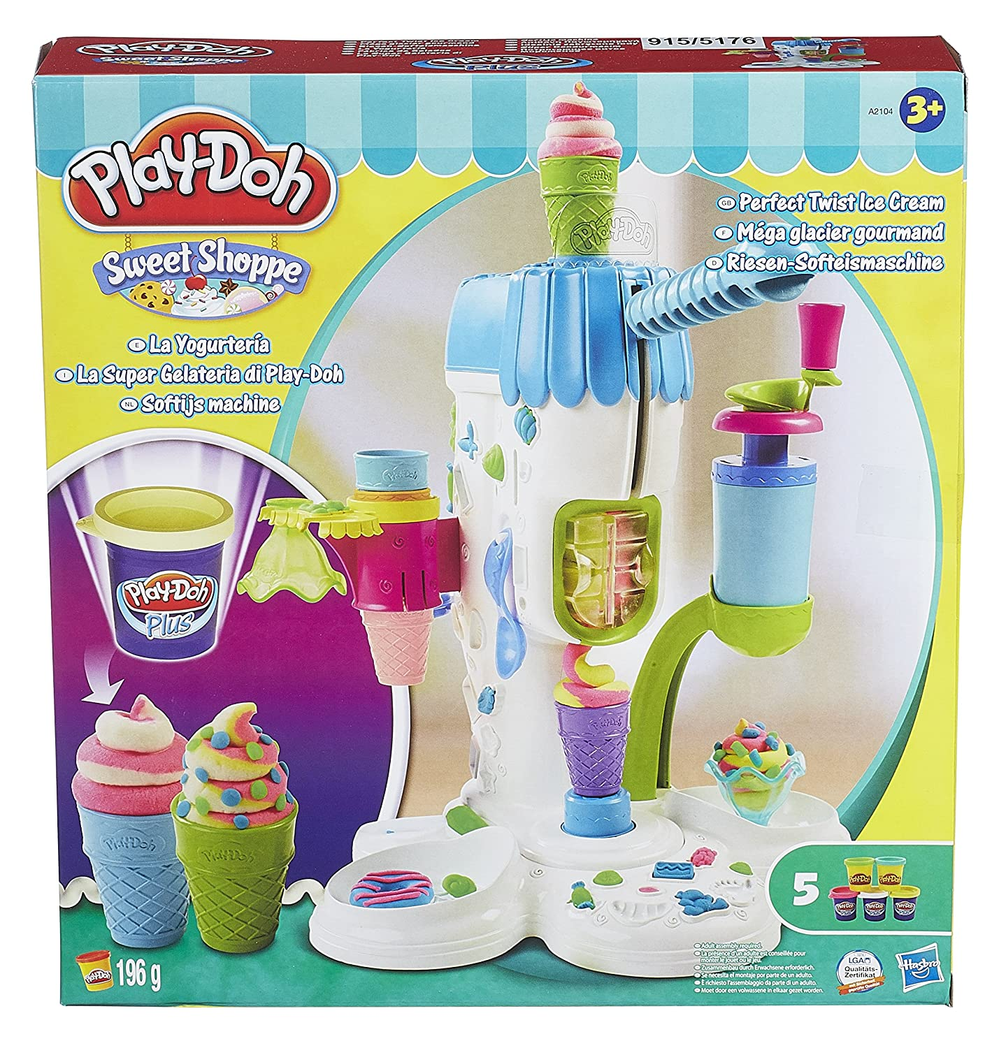 Playdoh Sweet Shoppe Perfect Twist Ice Cream ToyCentre A2104