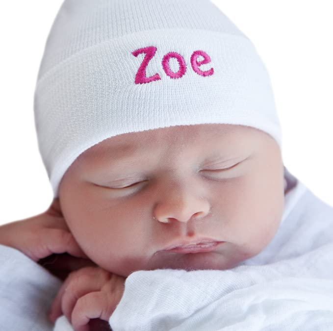 Amazon.com  Melondipity s Pure White Personalized Newborn GIRL ... 75a29654861