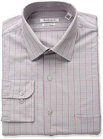 f65b04a49cb Van Heusen Men s Regular Fit Plaid Dress Shirt at Amazon Men s ...