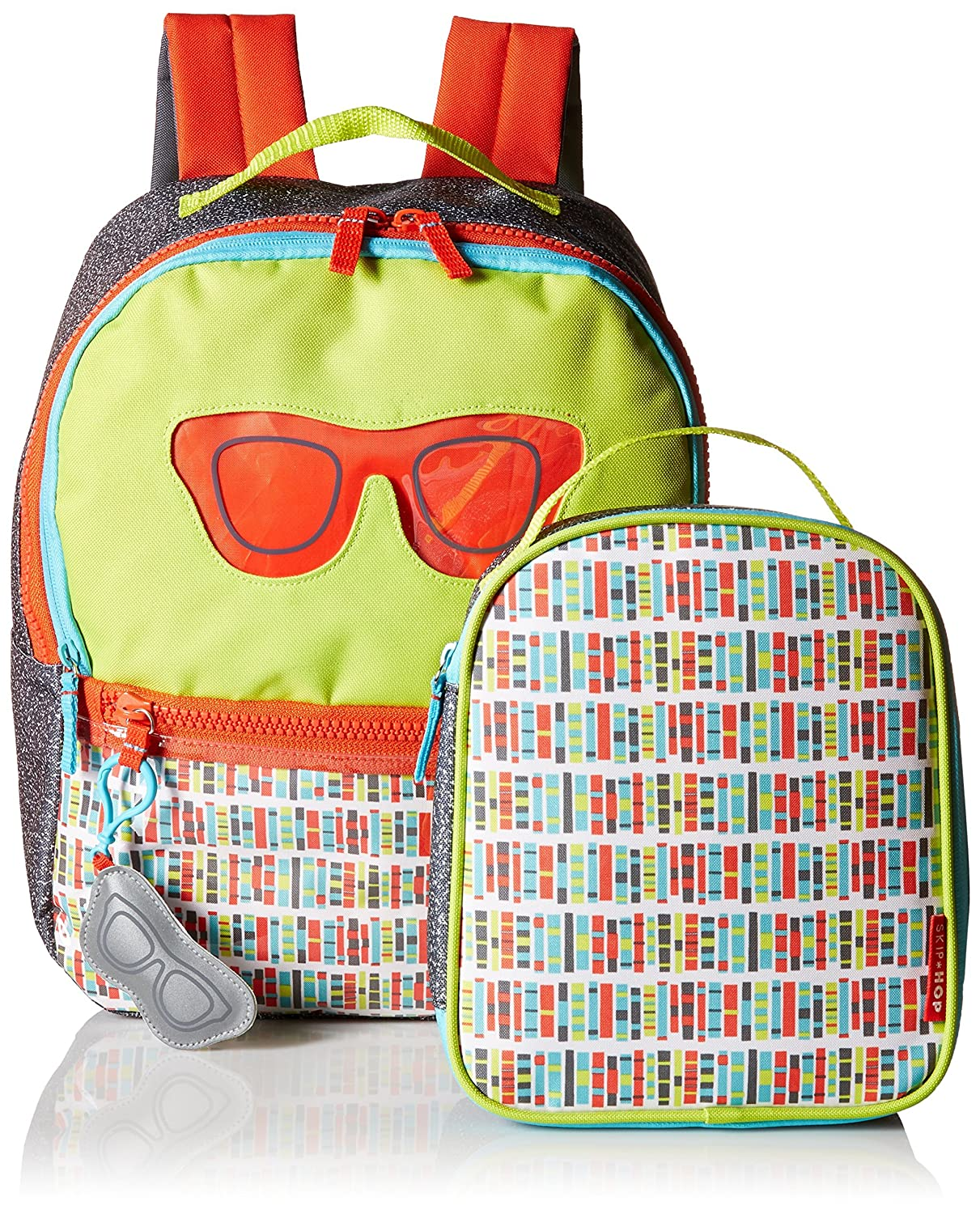 96d3761e80f4 Amazon.com  SkipHop Girls  Forget ME NOT Backpack   Lunch Bag-Specs   Clothing
