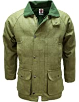 Mens Derby Tweed Breathable Hunting Shooting Jacket Coat Waterproof Wool by WWK / WorkWear King