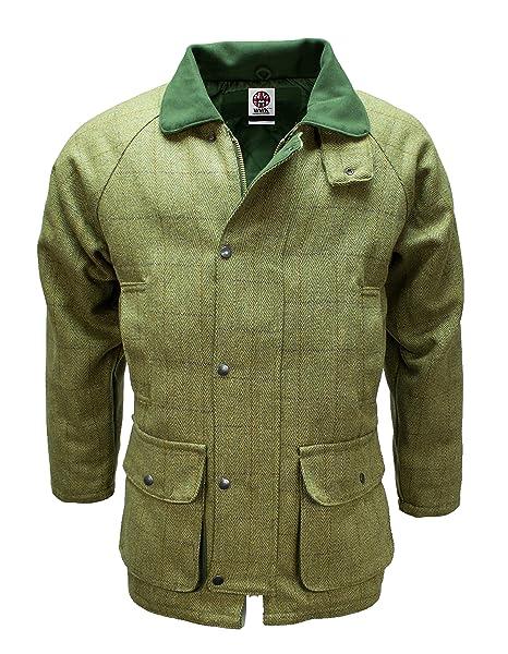 WWK/WorkWear King - Chaqueta de caza para hombre Derby Tweed transpirable, de lana impermeable Verde Country Green: Amazon.es: Ropa y accesorios