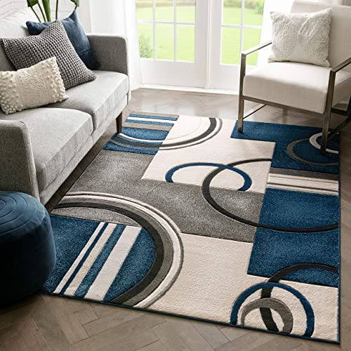 Unique Loom Davos Shag Collection Contemporary Soft Cozy Solid Shag Linen Area Rug 9 0 x 12 0