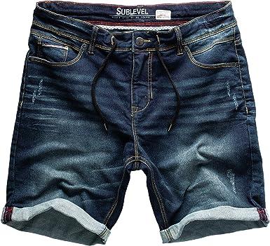 Sublevel Hombre Jogg Pantalones Cortos Shorts de Jeans Bermudas ...