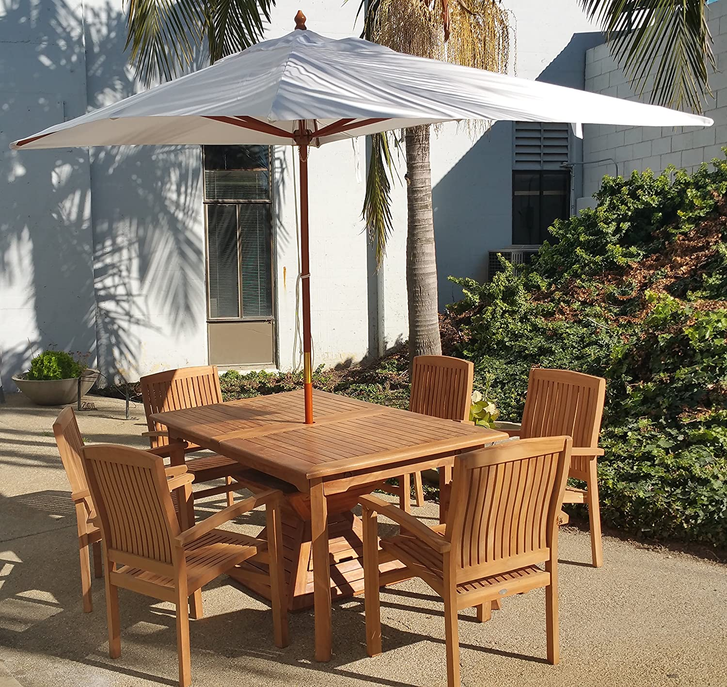 Amazon New Wooden 10 Ft Rectangle Sunbrella Fabric Any Color