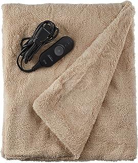 Sunbeam Heated Throw Blanket Reversible Sherpa Royal Mink 3 Heat Settings Olive