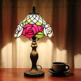 dellt-8 pulgadas vidrieras Tiffany Rose lámparas Tiffany ...