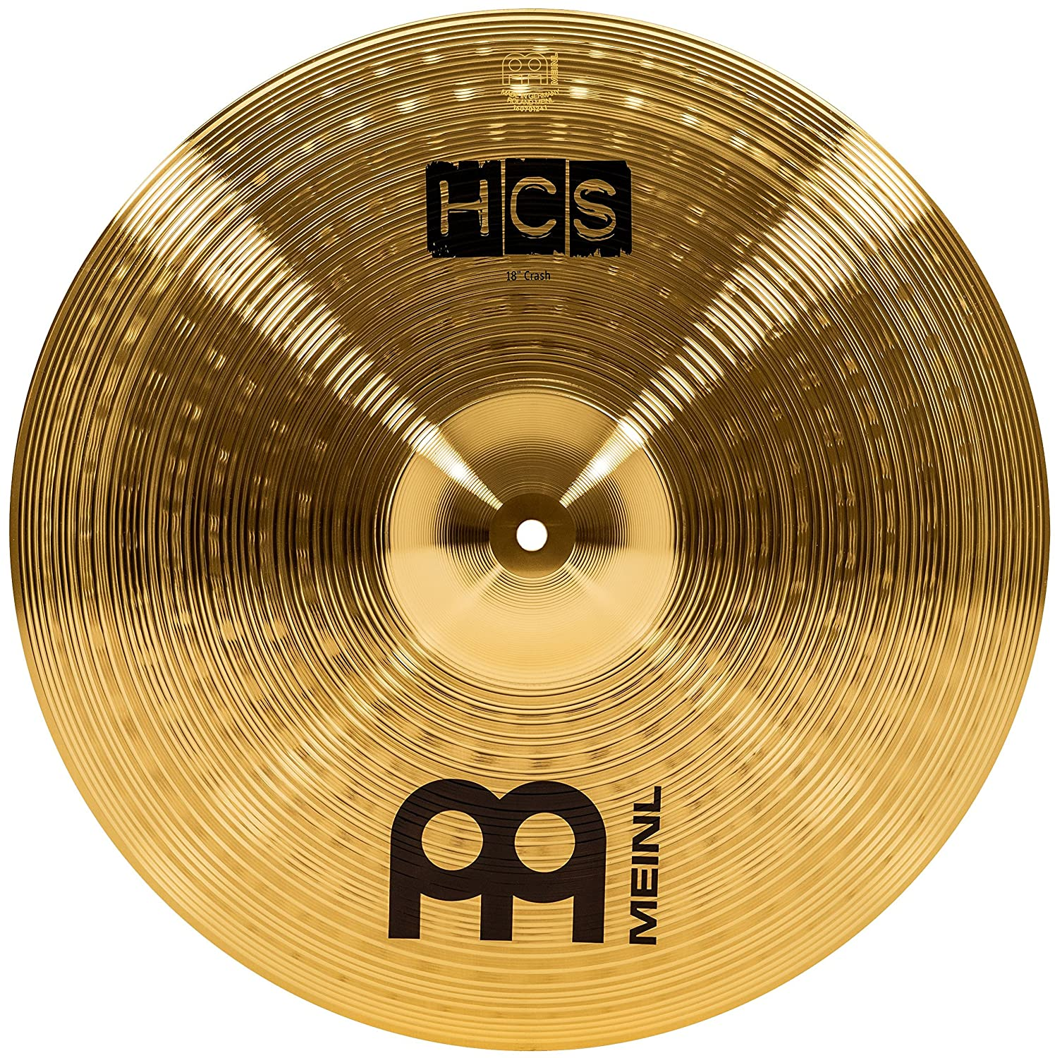 "Meinl Cymbals HCS18C 18"" HCS Brass Crash Cymbal for Drum Set (VIDEO)"