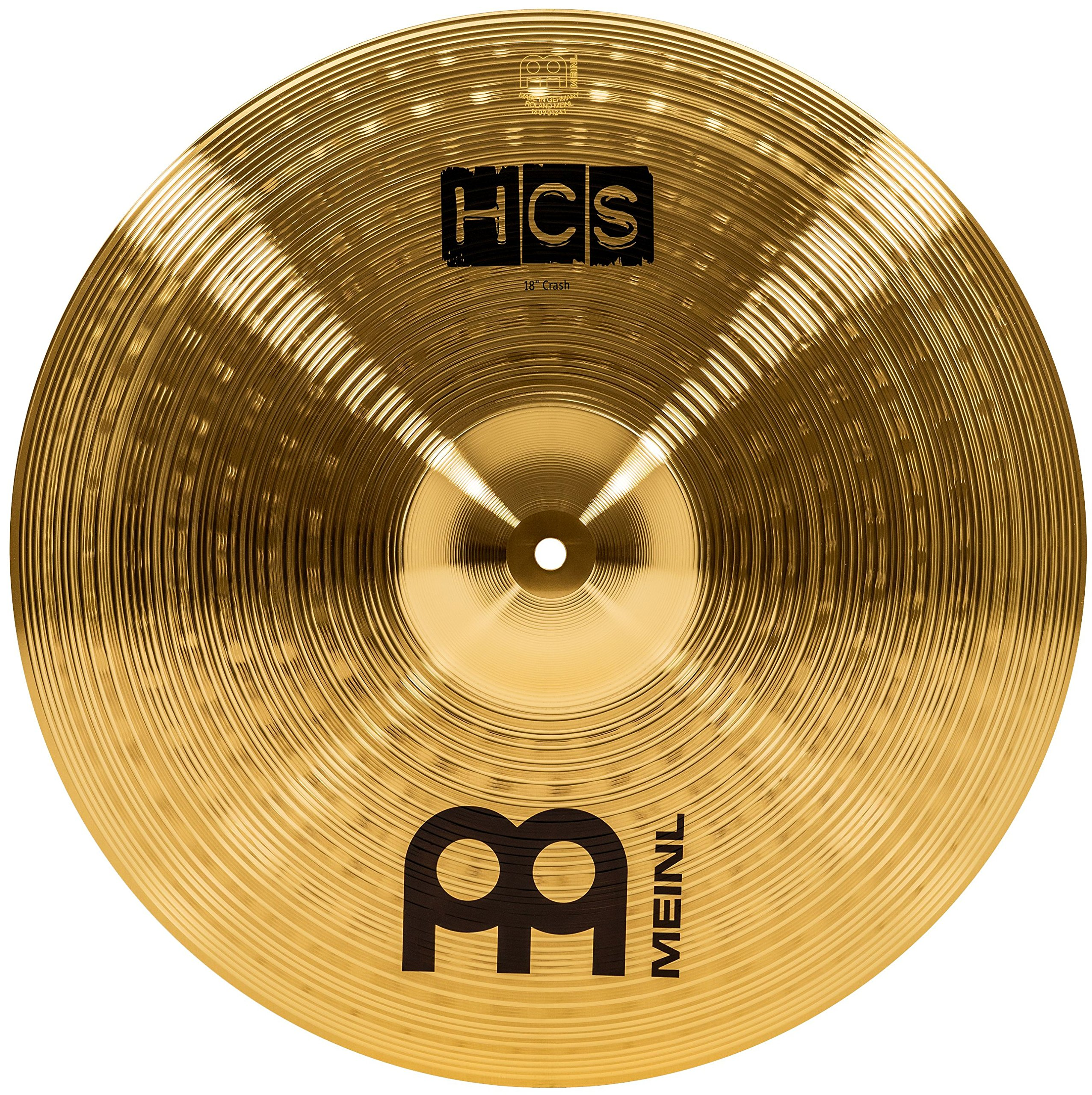 Meinl 18'' Crash Cymbal - HCS Traditional Finish Brass for Drum Set, Made In Germany, 2-YEAR WARRANTY (HCS18C)