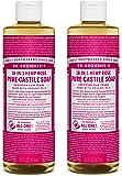 Dr. Bronner's Pure-Castile Liquid Soap - Rose 32oz.