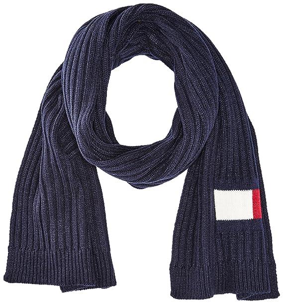 Tommy Hilfiger Men's Knit Logo Scarf, navy, ...