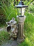 Kremers-Schatzkiste - Figura de jardín, forma de dragoncillo y farola solar baja